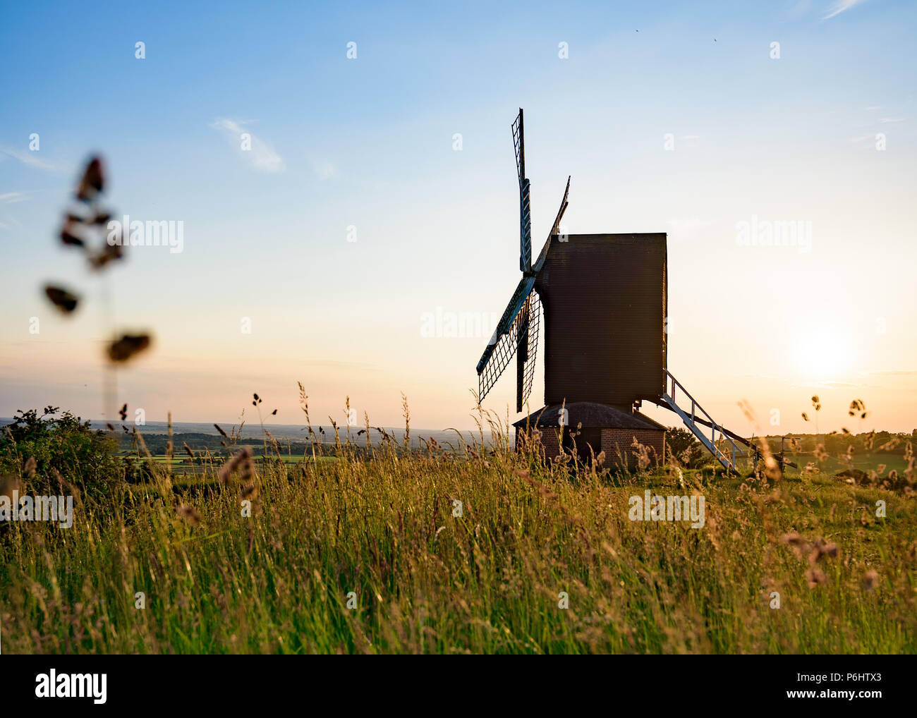 Sunset at Brill Hill in Buckinghamshire on a summers evening. - Stock Image