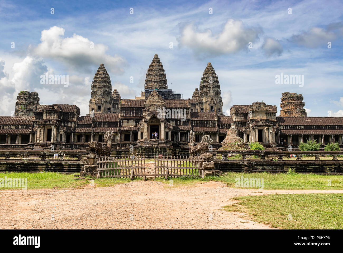 Angkor Wat, Cambodia - November 17, 2017: Ta Kou entrance to Angkor Wat temple complex in Cambodia. It is the largest religious complex in the world a - Stock Image