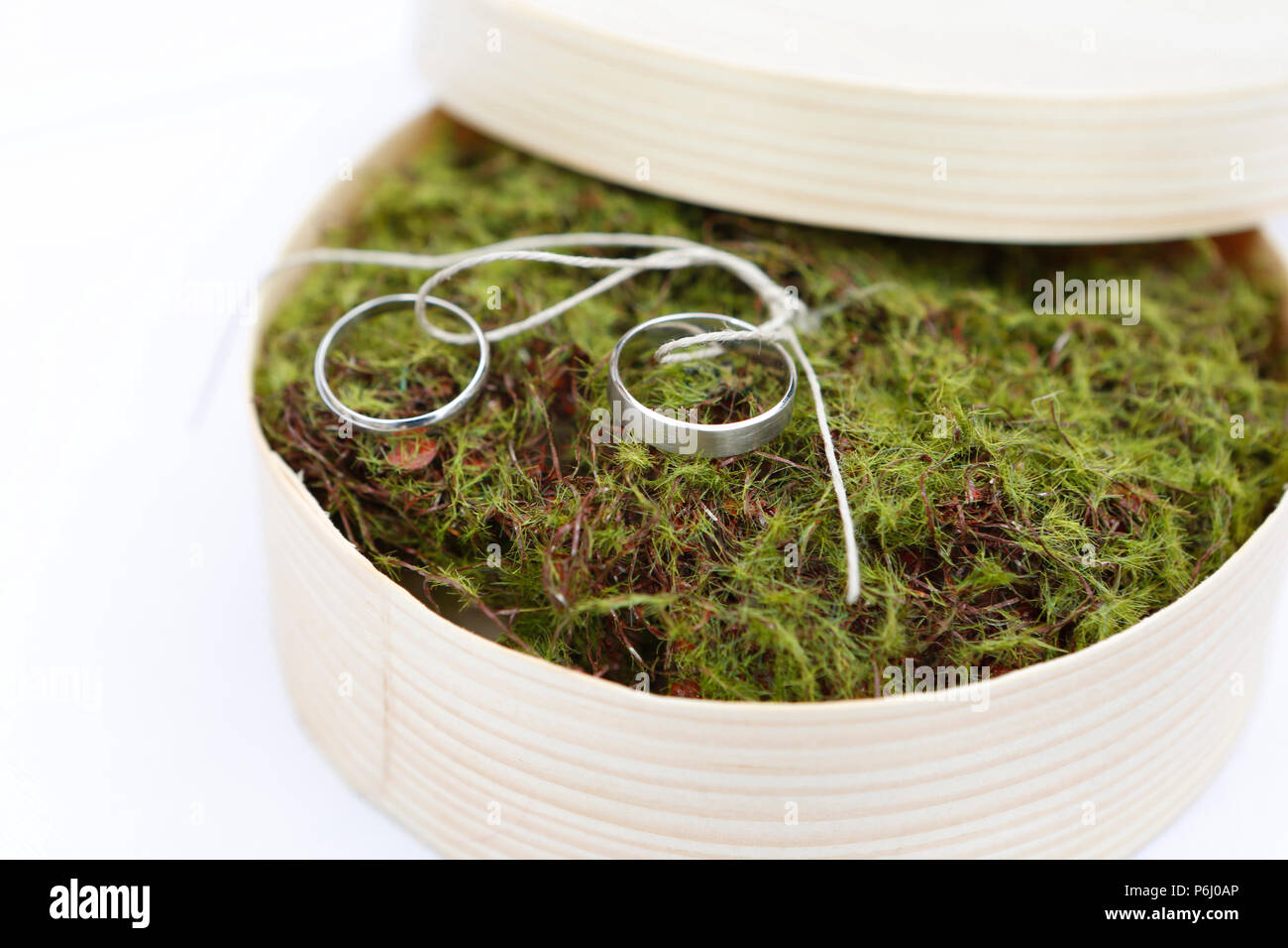 Wedding rings made of surgical steel, marriage - Stock Image