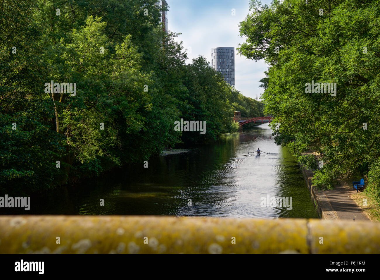 The River Soar Runs through the picturesque City of Leicester - Stock Image