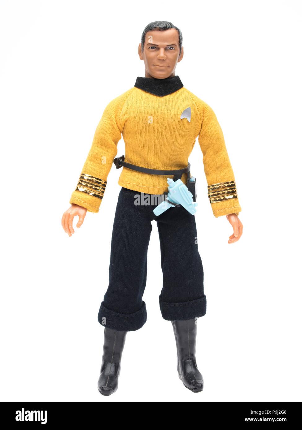 1974 MEGO Star Trek Captain Kirk  with phaser and communicator. - Stock Image