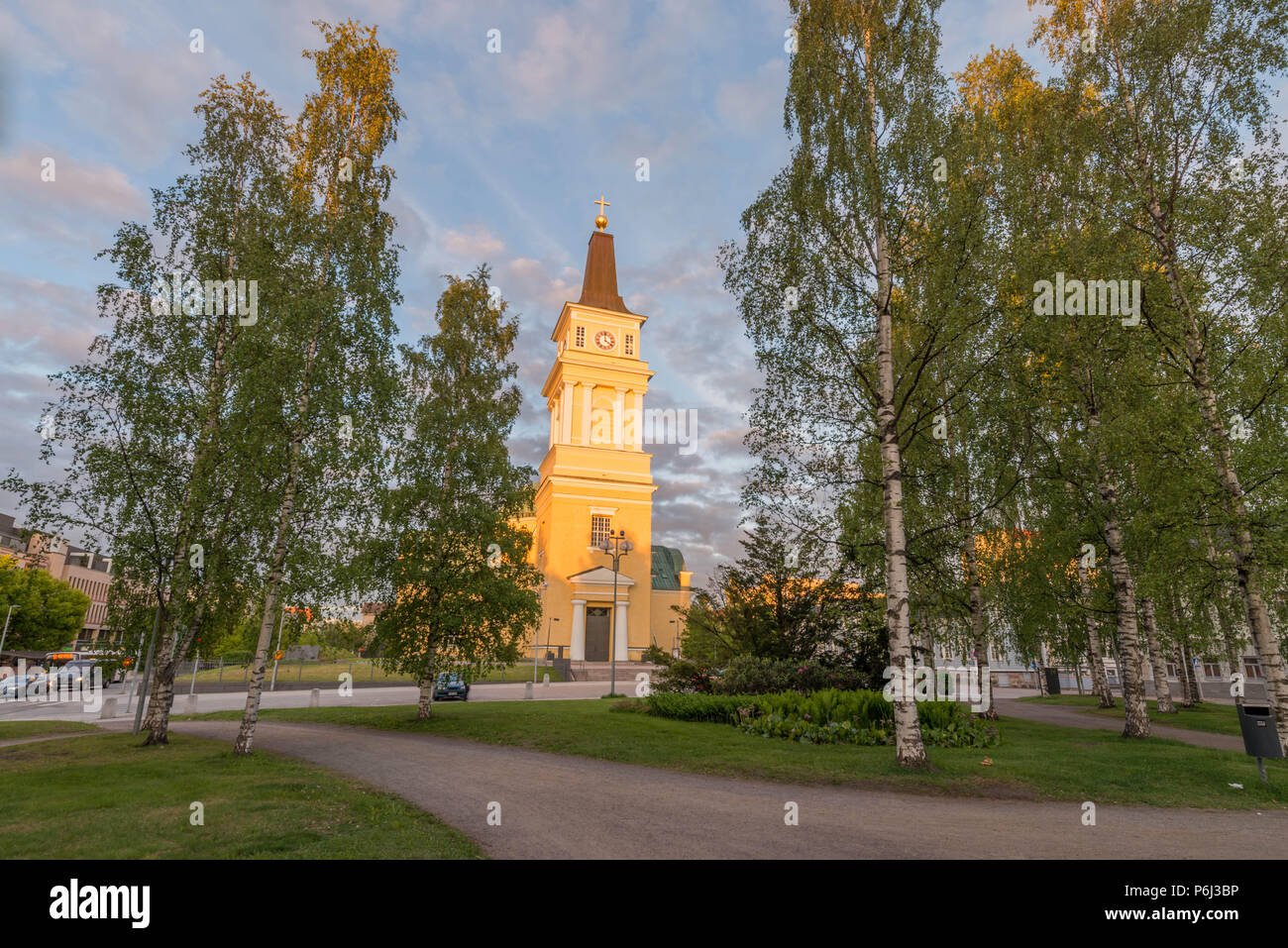 Oulu Cathedral in Finland - Stock Image