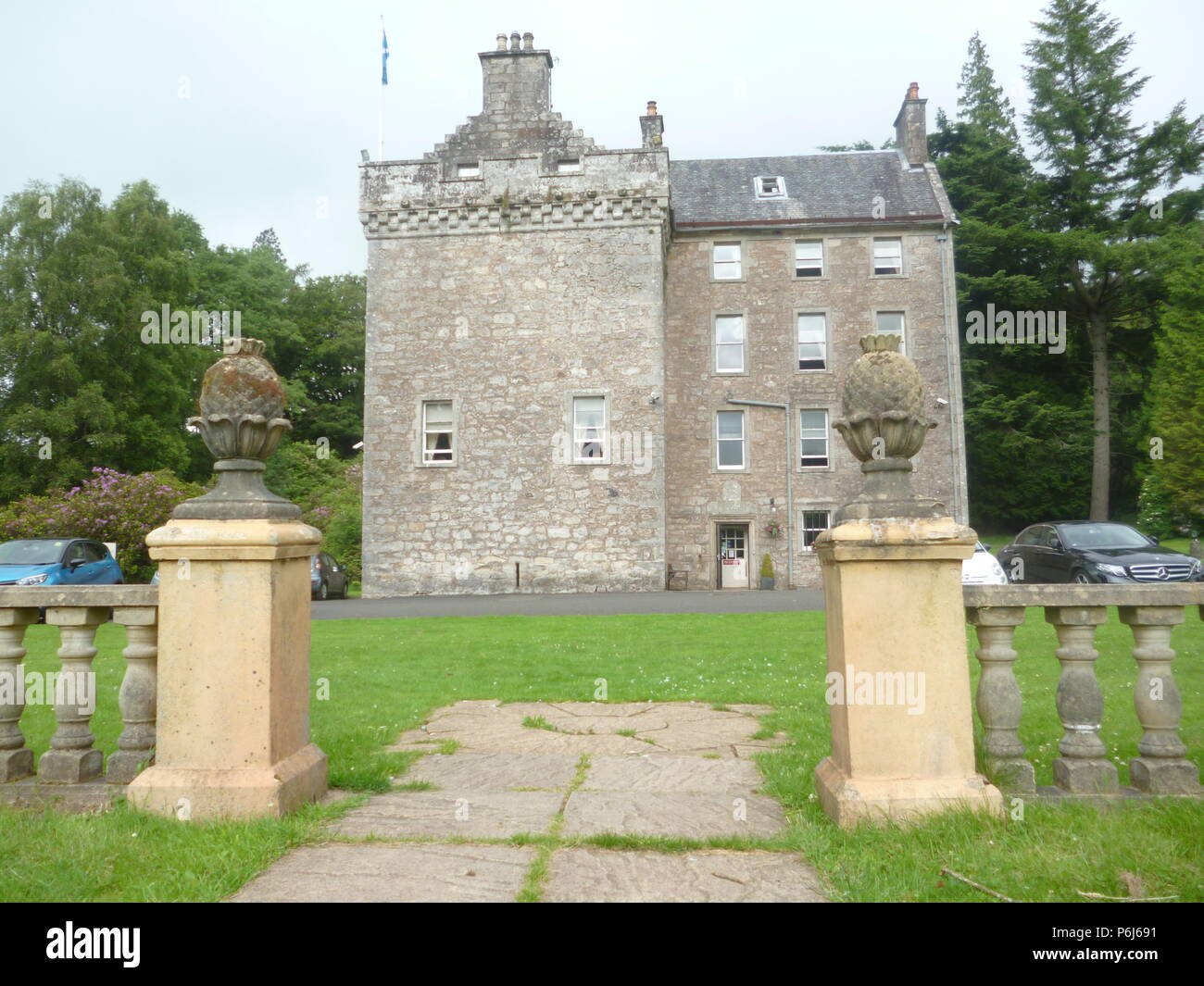 Culcruech Castle, Scotland - Stock Image