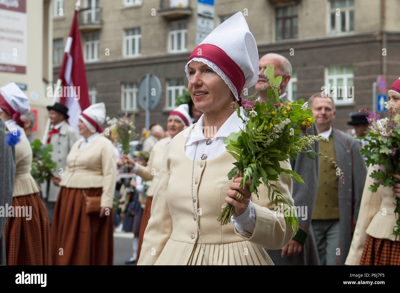 RIGA, LATVIA, JULY 1, 2018: National Song and Dance Festival ...