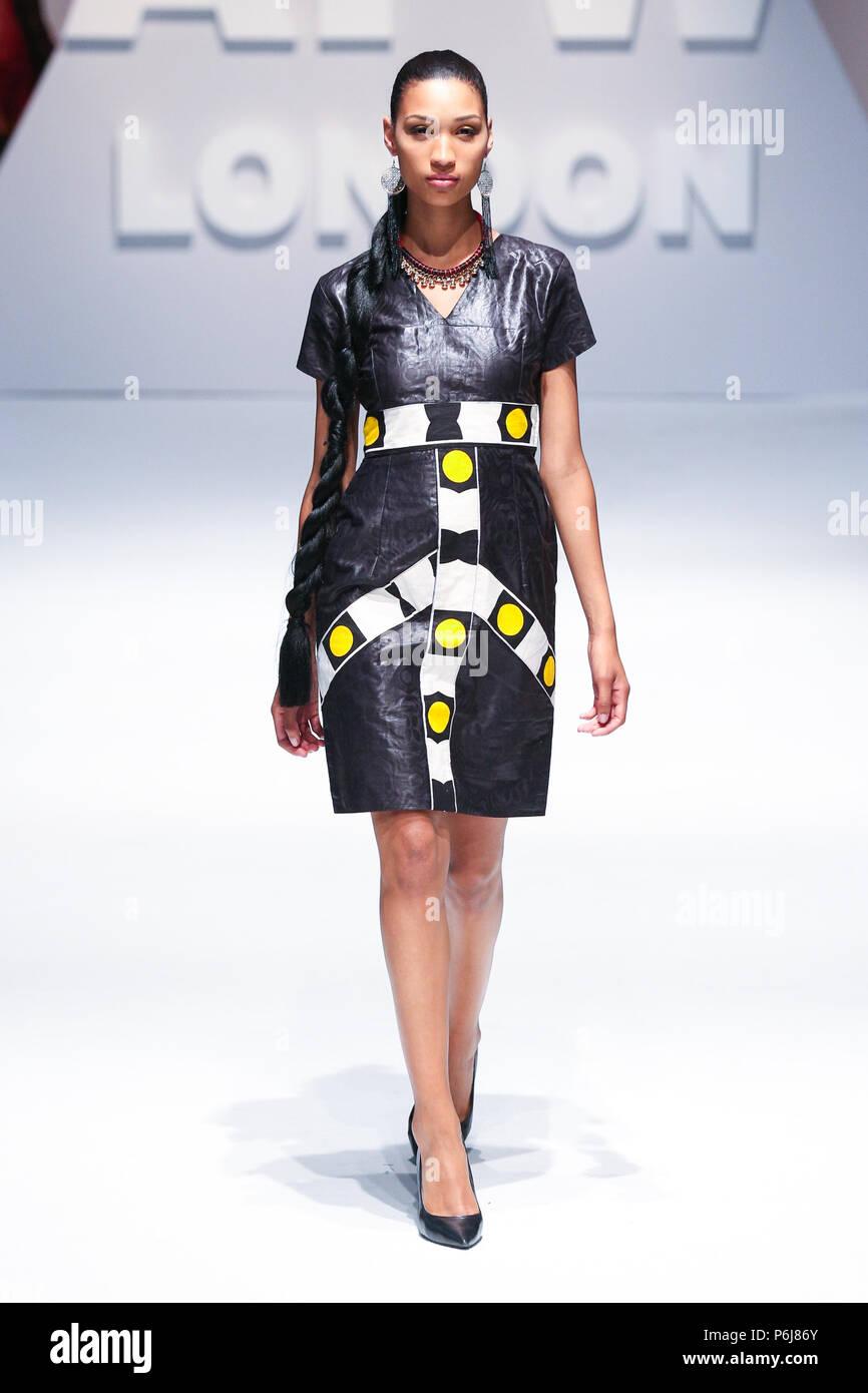 London, UK, August 2014 , Ambiance Couture showcased their new collection at Africa Fashion Week London 2014. Mariusz Goslicki/Alamy - Stock Image