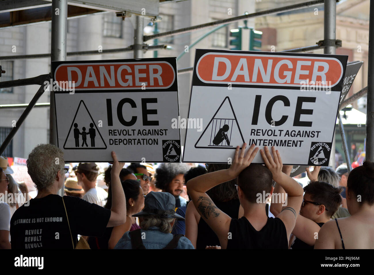 New York, USA, 30 June 2018. Families Belong Together March in New York City. Credit: Christopher Penler/Alamy Live News - Stock Image