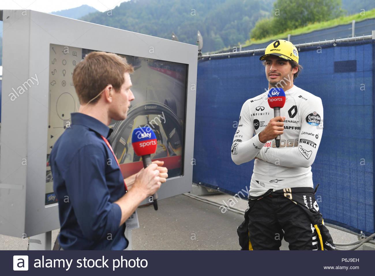 RED BULL RING, AUSTRIA - JUNE 30: Anthony Davidson (GBR) Sky TV