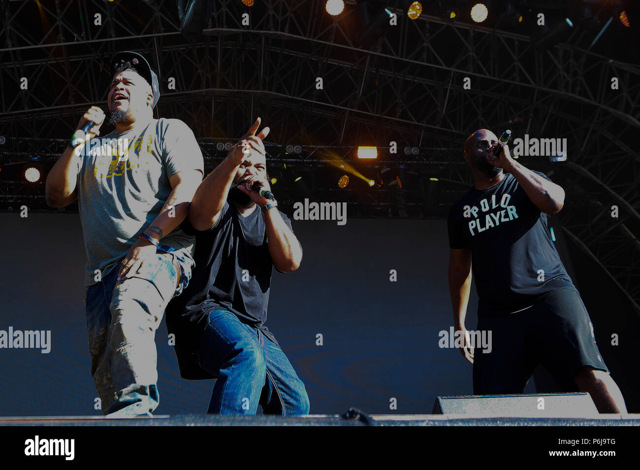 Glasgow, UK. 30th Jun, 2018. Fiesta X FOLD Festival Glasgow Glasgow.   The inaugural Fiesta X FOLD Festival in Kelvingrove Park, Glasgow.  Pictured are De La Soul performing on the Main Stage on Saturday 30th June 2018   Picture © Andy Buchanan Credit: Andy Buchanan/Alamy Live News Credit: Andy Buchanan/Alamy Live News Stock Photo