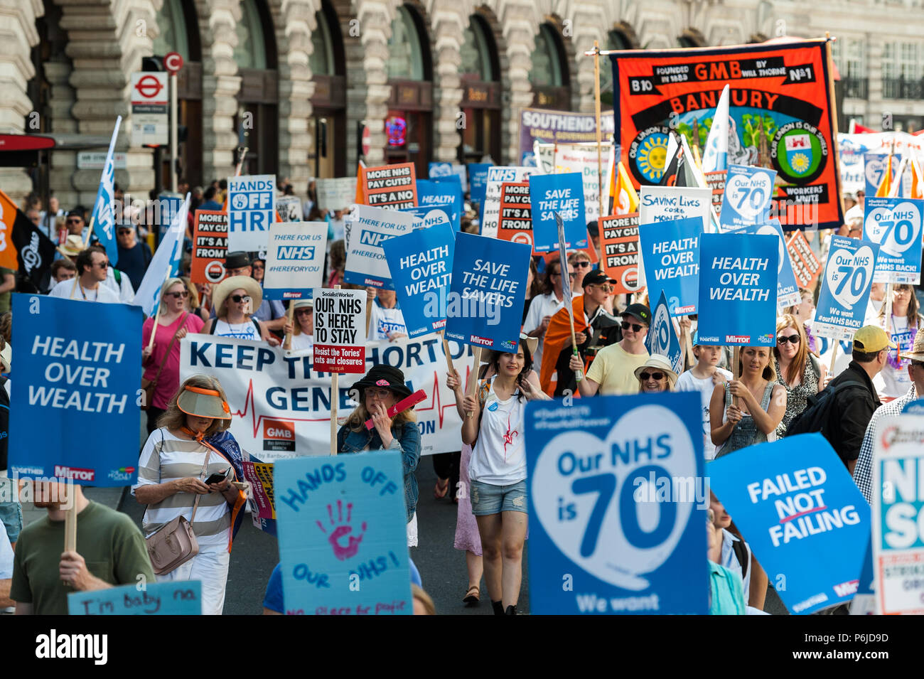 London, UK  30th June, 2018  Thousands of demonstrators take