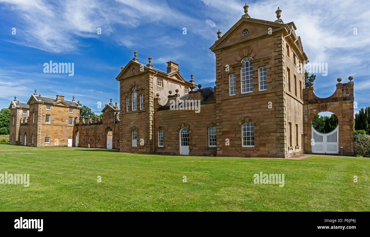 Frontal view of Chatelherault Estate in Chatelherault Country Park Ferniegair Hamilton Lanarkshire Scotland UK - Stock Image