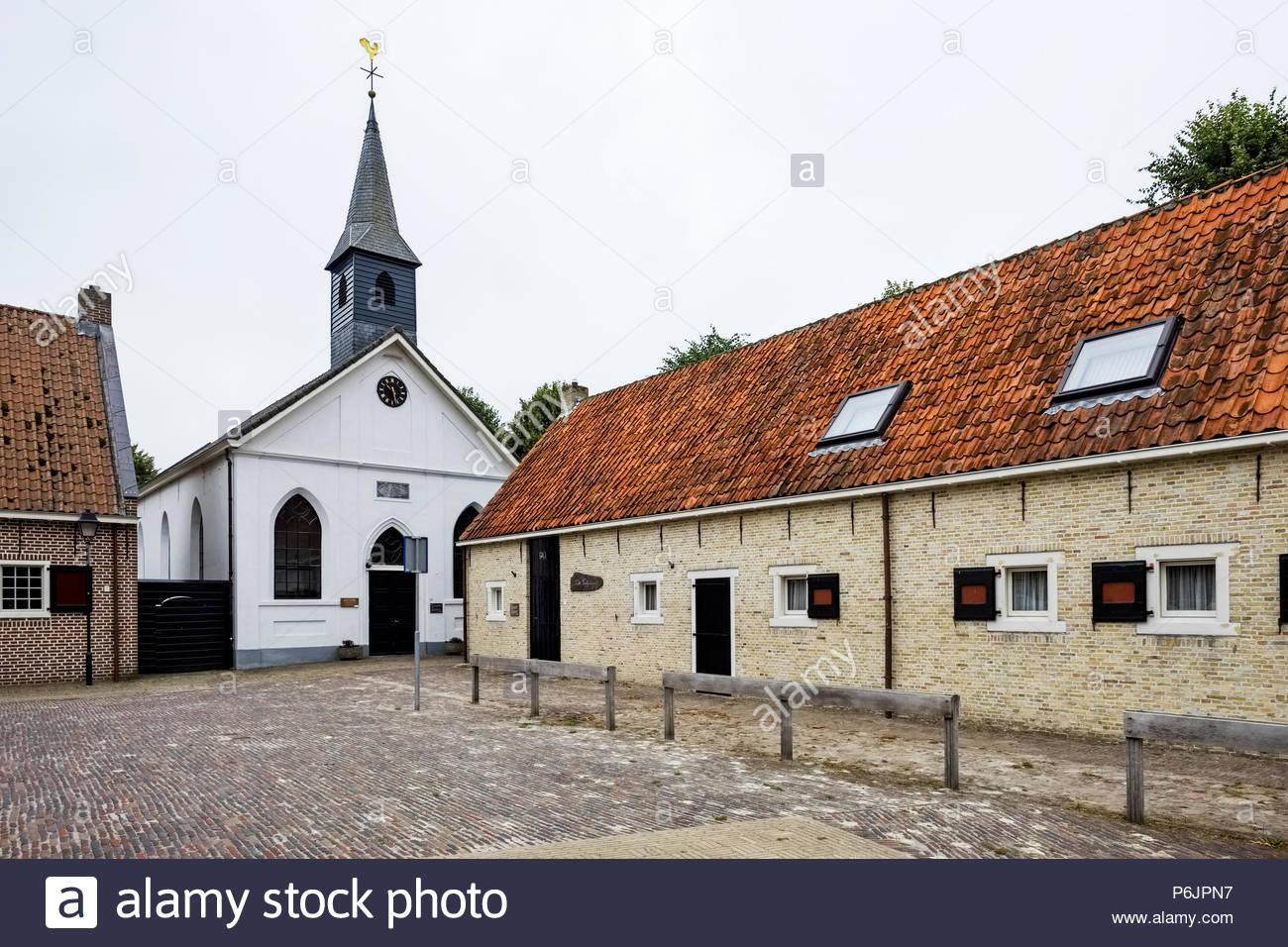 Hervormde Kerk (Reformed Church) Bourtange Stock Photo