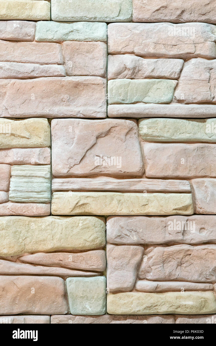 Beige Decorative Stone For Wall Decoration Background