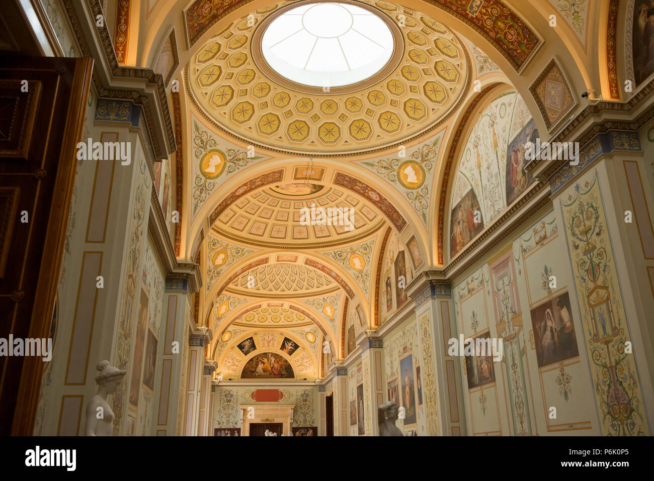 SAINT PETERSBURG, RUSSIA - AUGUST 18, 2017: Interior of State Hermitage in St.Petersburg, Russia. State Hermitage was founded in 1764. Now it is large Stock Photo