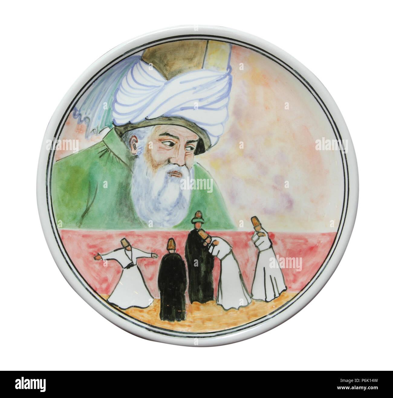 Porcelain Plate - Stock Image