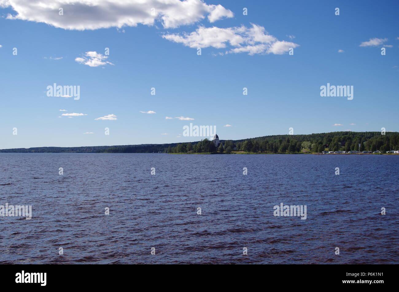 Lake siljan in the province of Dalarna - Stock Image