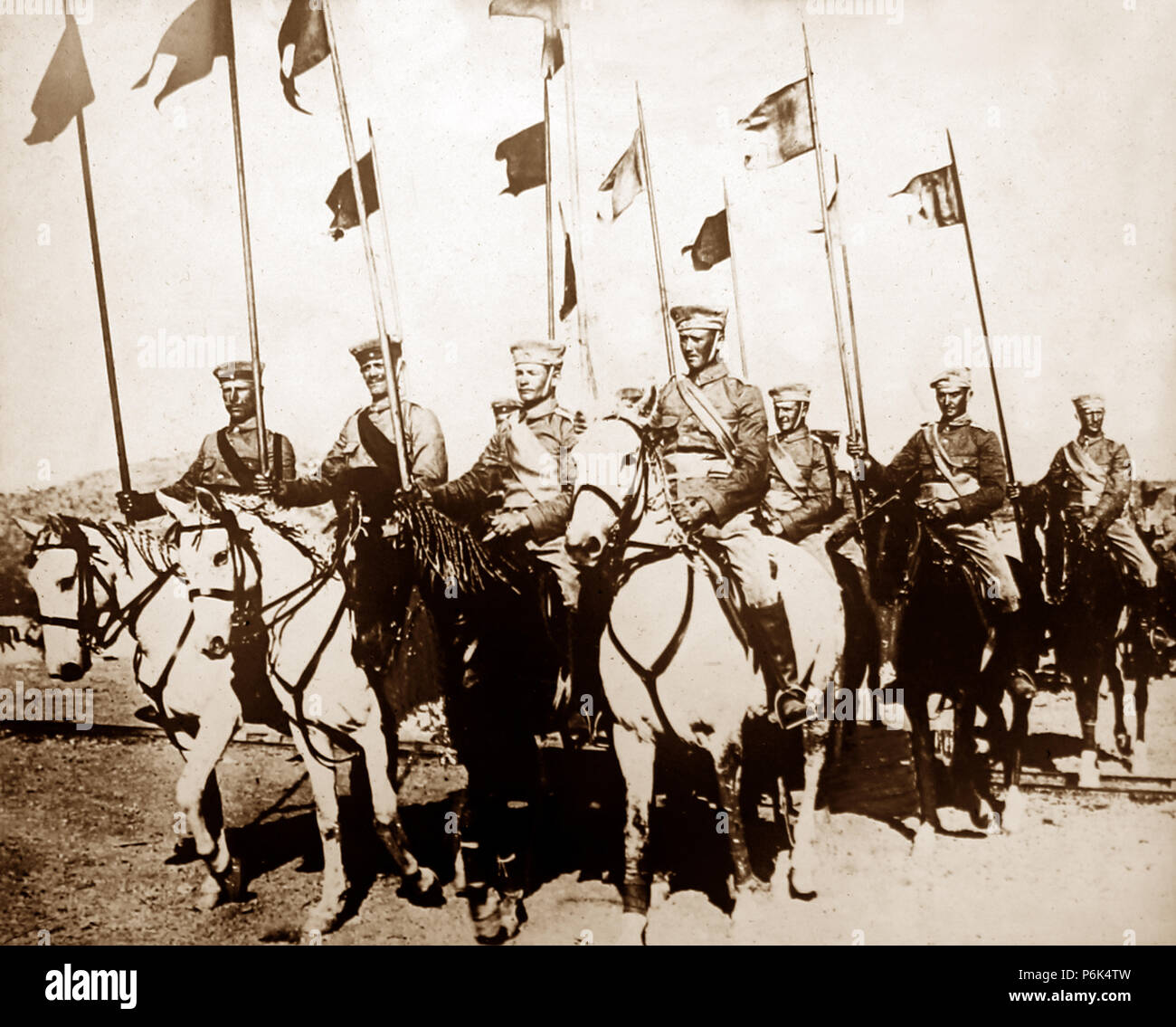 German Cavalry 'Uhlans', WW1 - Stock Image