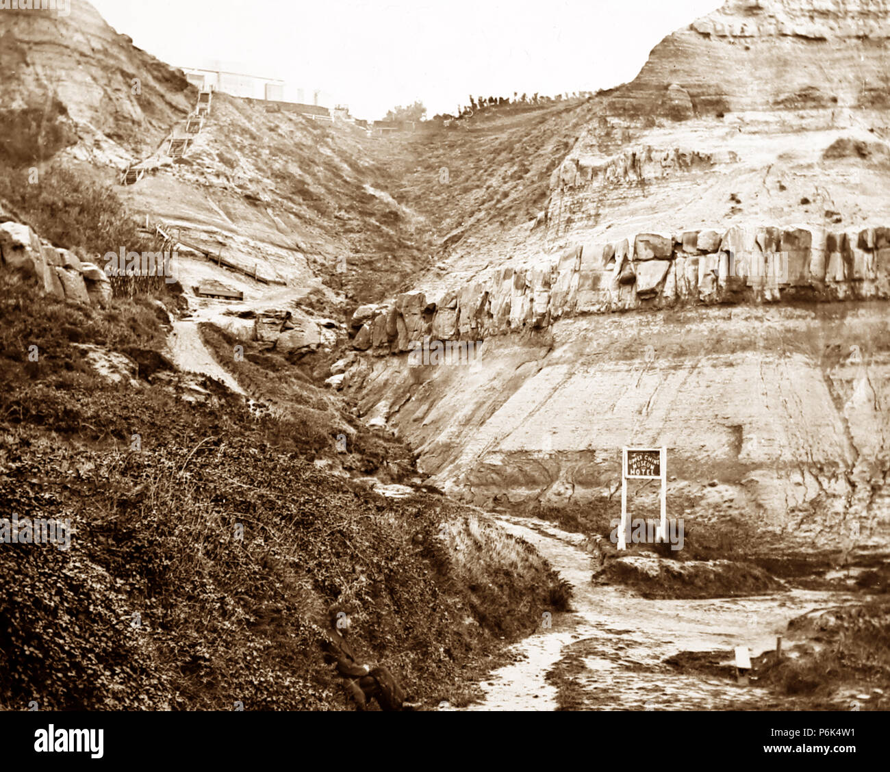 Upper Chine, Blackgang Chine, Isle of Wight, Victorian period - Stock Image