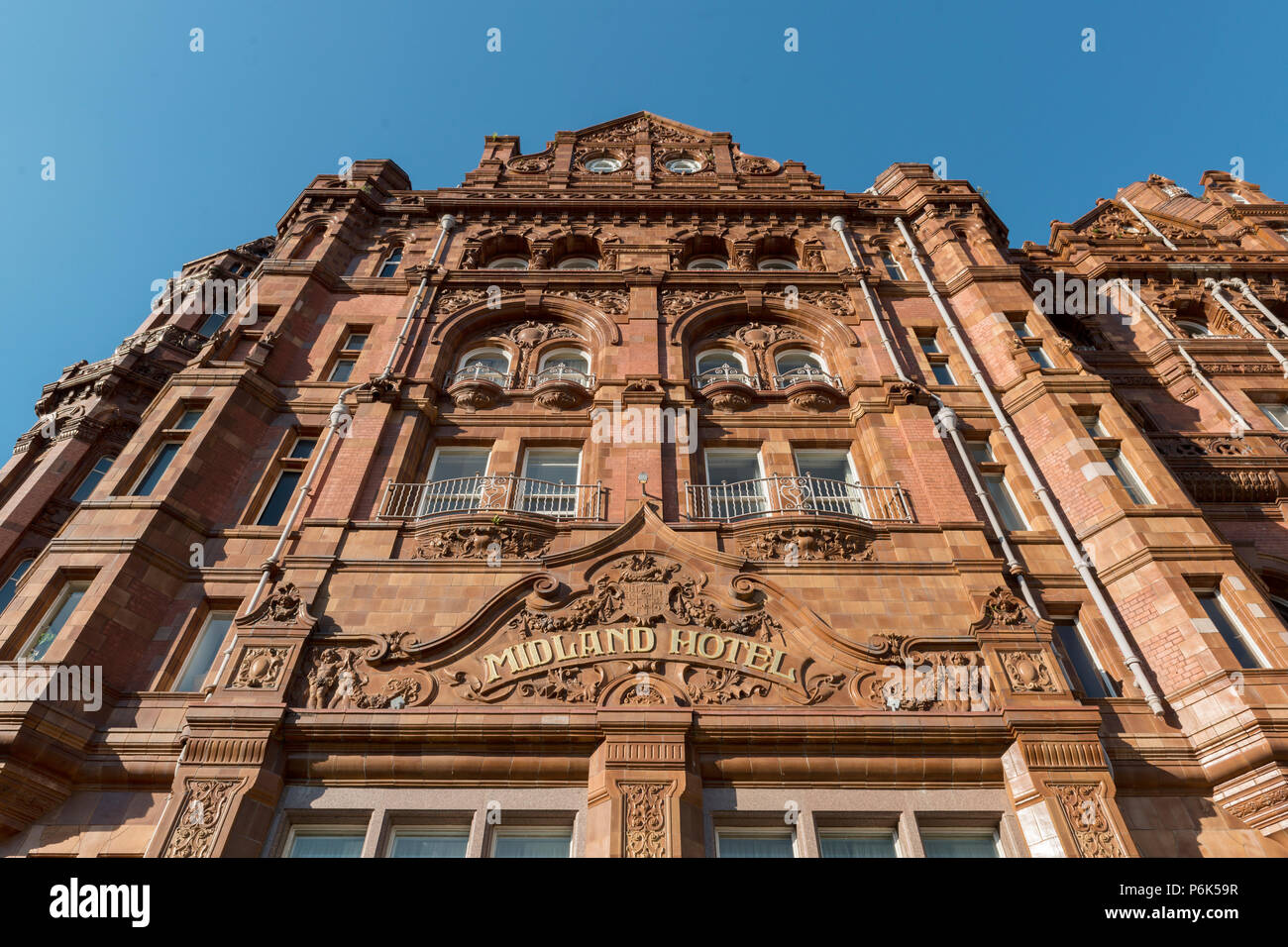 The rear of the Midland Hotel in Manchester. - Stock Image