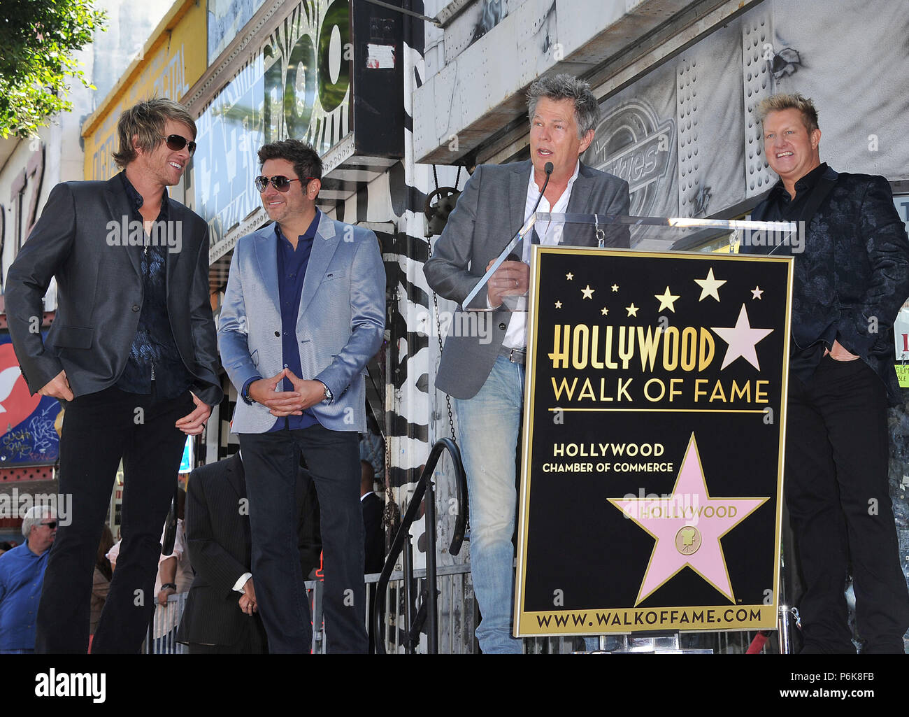 Gary Levox Lead Vocals Jay Demarcus Bassist And Background Vocals Joe Don Rooney Rascal Flatts Honored With A Star On The Hollywood Walk Of Fame In Los Angeles Rascal Flatts Star 19