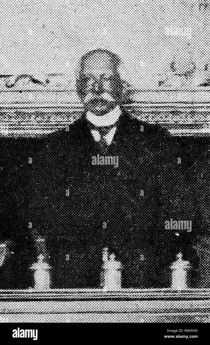 1909-04-24, Blanco y Negro, El ilustre juriconsulto italiano Pasquale Fiore, conferenciante en la Academia de Jurisprudencia, Cifuentes (cropped), Pasquale Fiore. - Stock Image