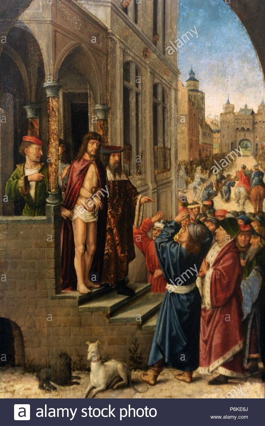 Early Netherlandish painter, active from 1496-1519. Ecce Homo. Before 1496.  National Gallery. Prague. (Sternberg Palace). Czech Republic.