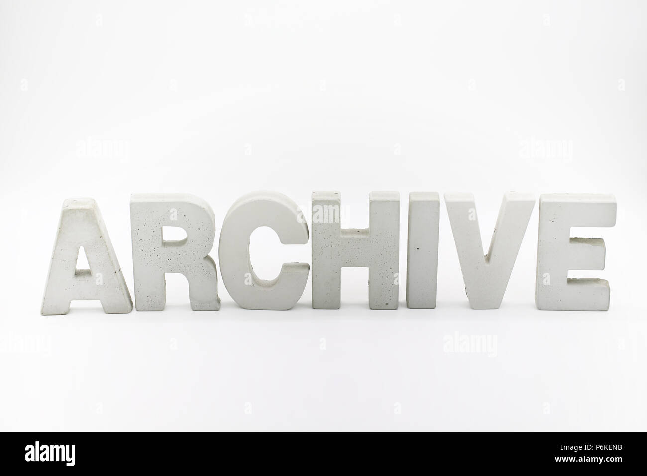 archive the word block - Stock Image