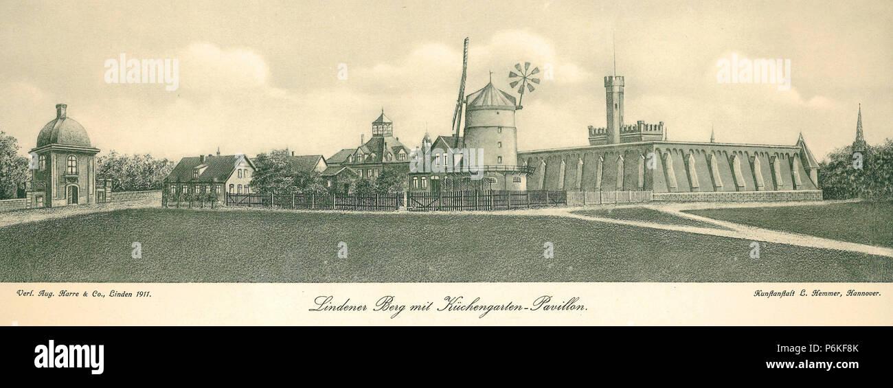 1911 Ludwig Hemmer Lindener Berg Mit Kuchengarten Pavillon Verlag