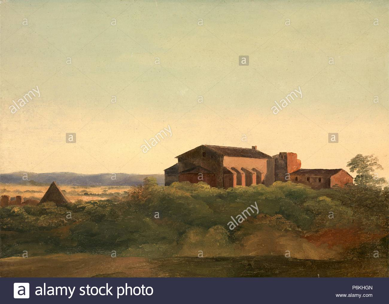 A View of the Church of S. Sabina and the Pyramid of Cestius, Rome, Charles Lock Eastlake, 1793-1865, British. Stock Photo