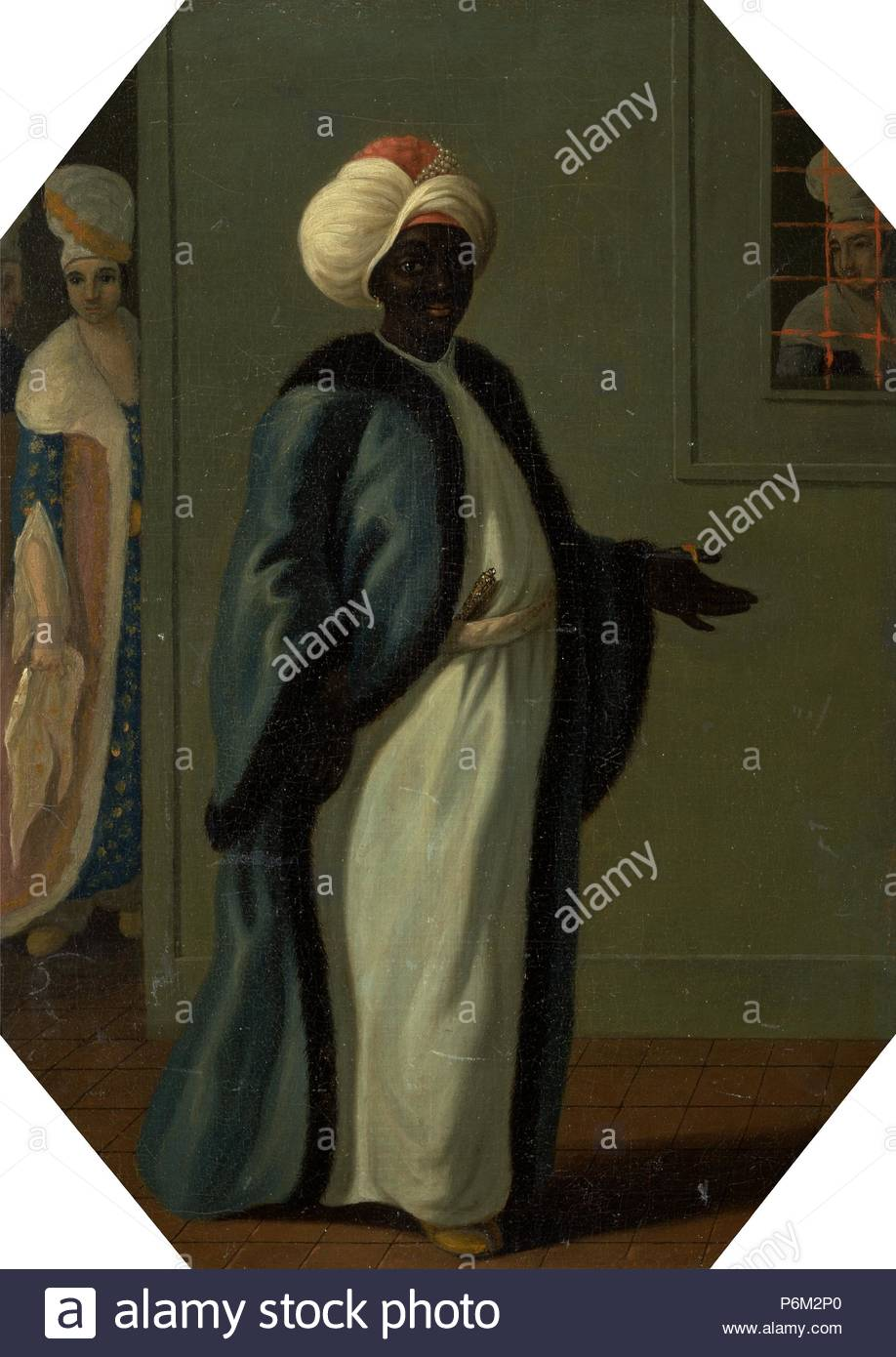 Kisler Aga, Chief of the Black Eunuchs and First Keeper of the Serraglio, Francis Smith, active 1763-1780, British. - Stock Image
