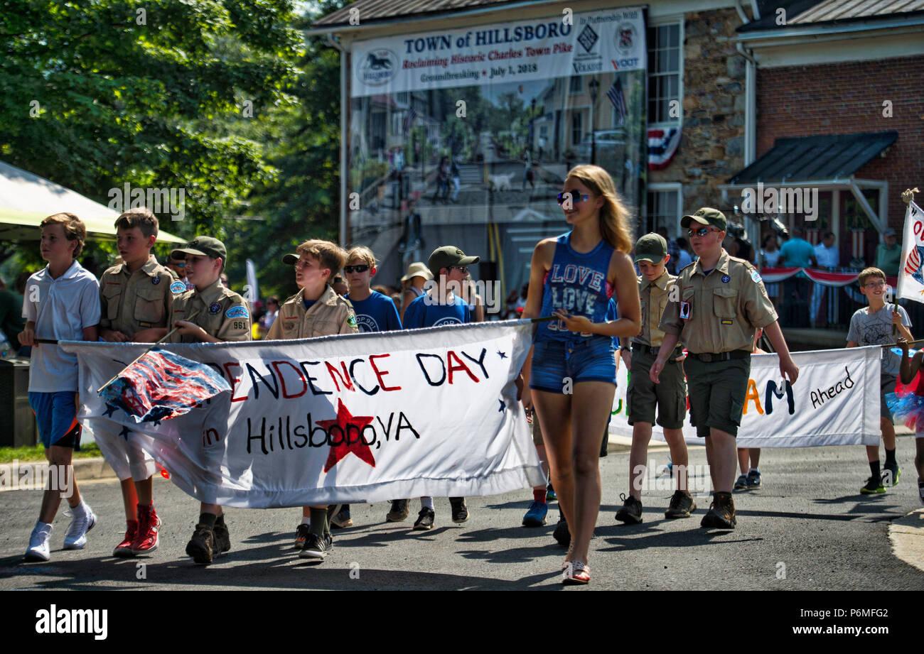 Hillsboro, Virginia, USA  1st July, 2018  Hillsboro 4th of
