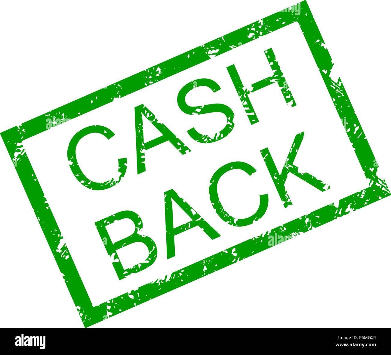 Text cash back in frame rubber stamp. Vector cash back money ...