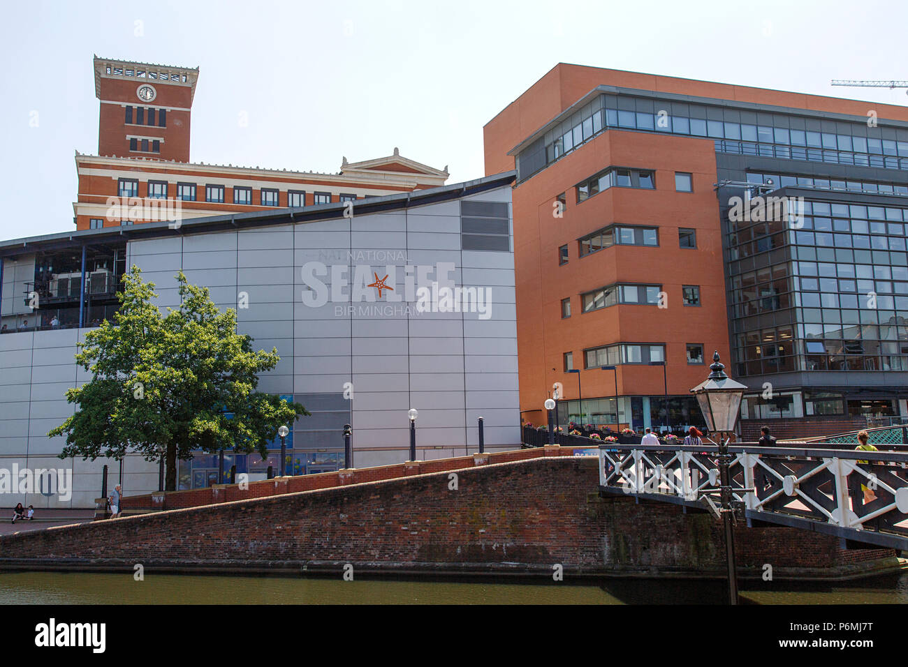 Birmingham, UK: June 29, 2018: The National SEA LIFE Centre is an aquarium with over 60 displays of freshwater and marine life in Brindley Place. Stock Photo