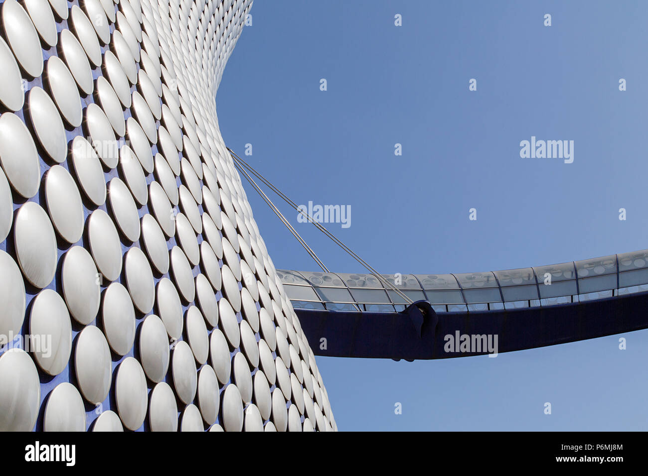 Birmingham, UK: June 29, 2018: Selfridges is one of Birmingham city's most distinctive and iconic landmarks and part of the Bullring Shopping Centre - Stock Image
