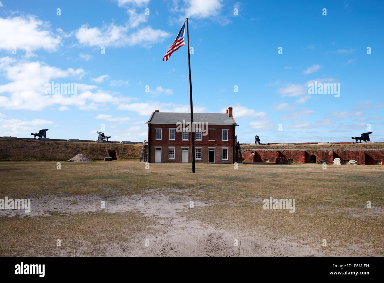 Parade of Fort Clinch - Stock Image