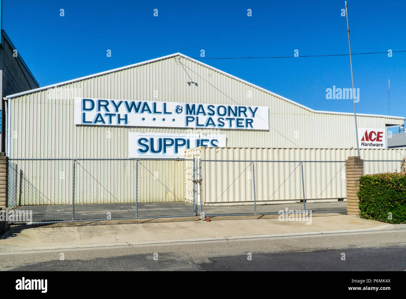 A drywall and masonry supply store in Ceres California Stock Photo