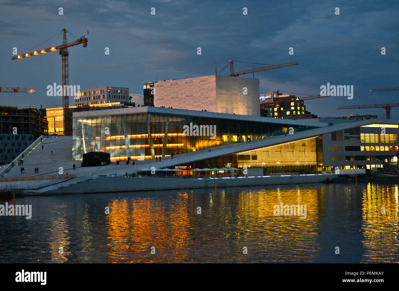 Oslo Opera House, Norway - Stock Image