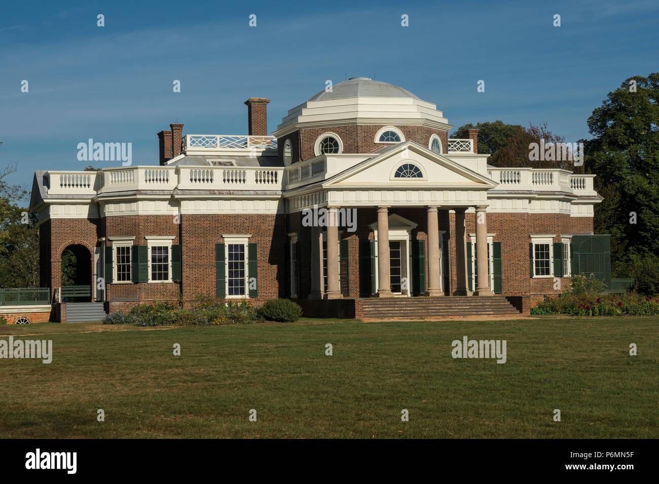 Super Thomas Jefferson Home Monticello Stock Photo 210668011 Alamy Download Free Architecture Designs Parabritishbridgeorg
