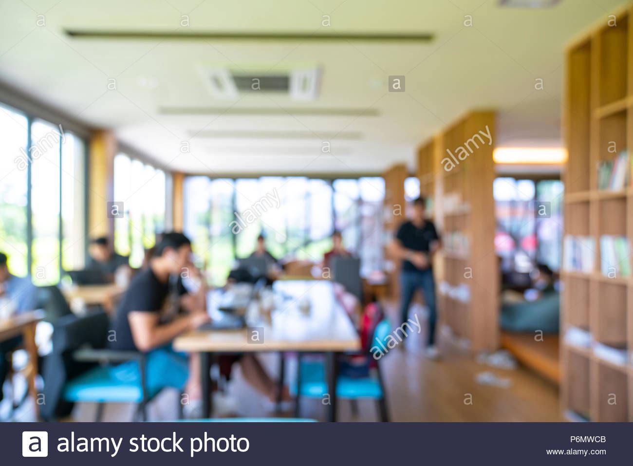 Blurred office interior space background - Stock Image