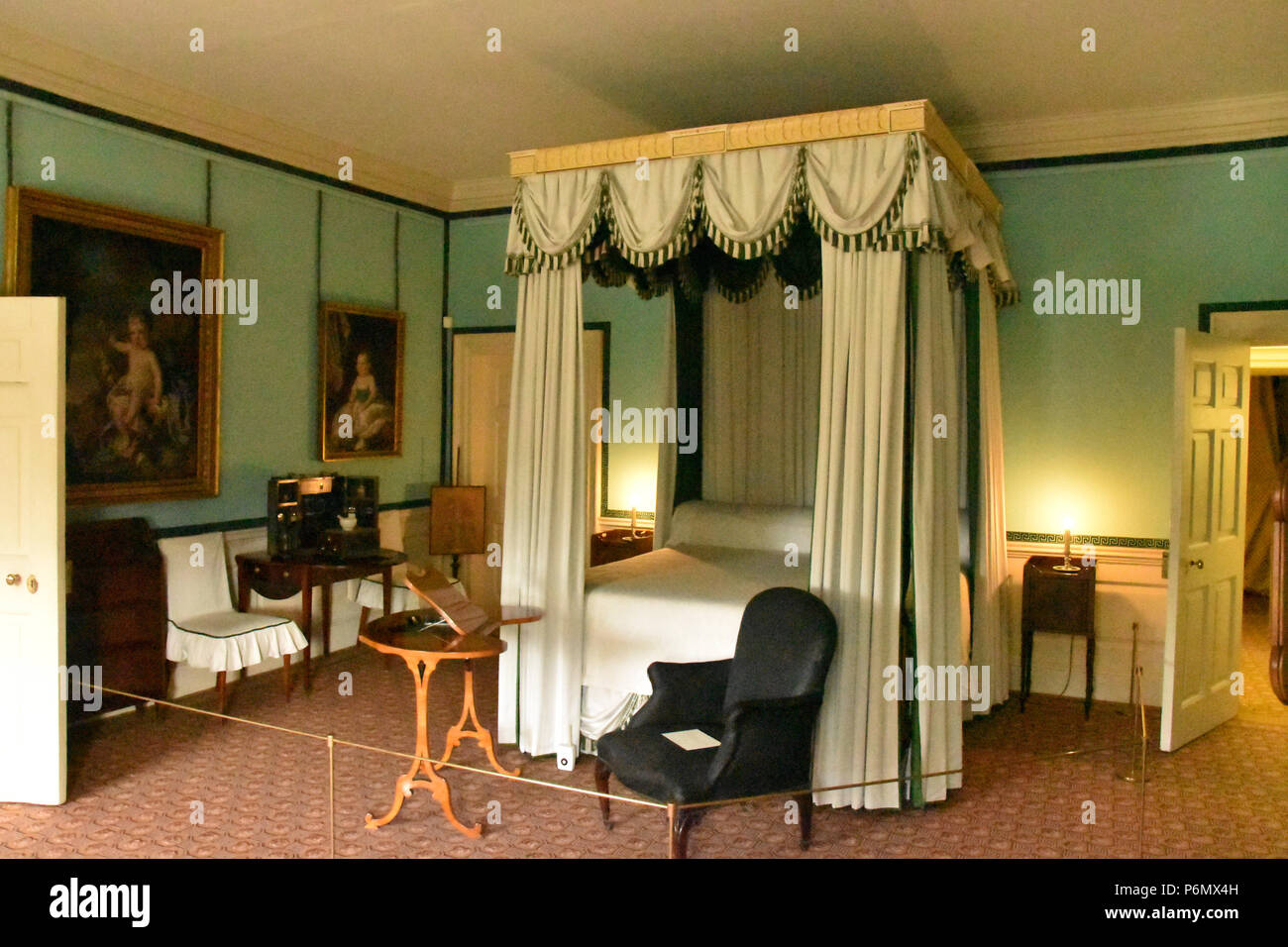 Green Bedroom in the Dutch House, the main survivor of Kew Palace in ...
