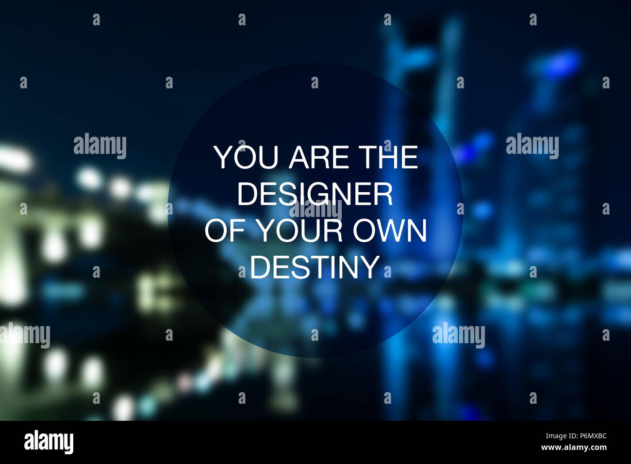 Motivational and inspirational quote - You are the designer of your own destiny. - Stock Image