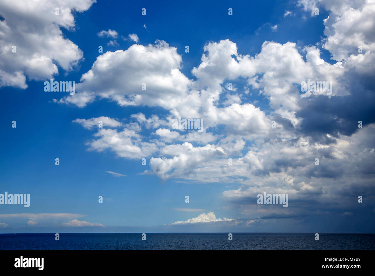Cloudy sky in Salento, Italy. - Stock Image