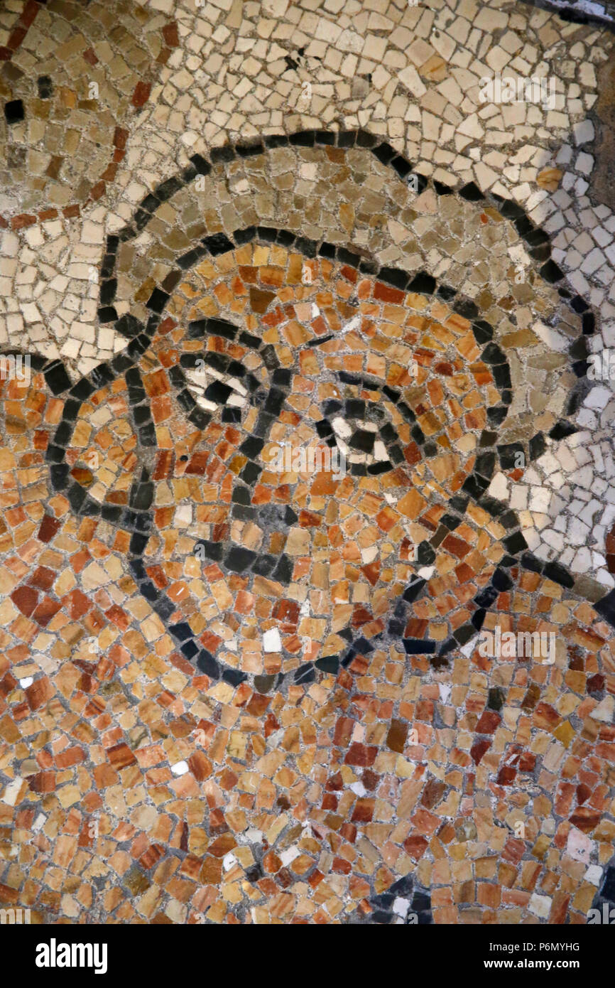 Detail of the mosaics on the floor of Otranto Duomo (cathedral), Italy. - Stock Image