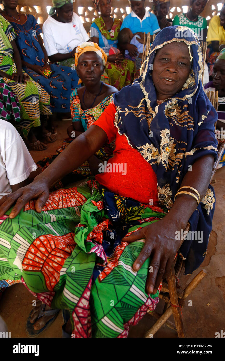 Members of a women's microfinance cooperative in Northern Togo. - Stock Image