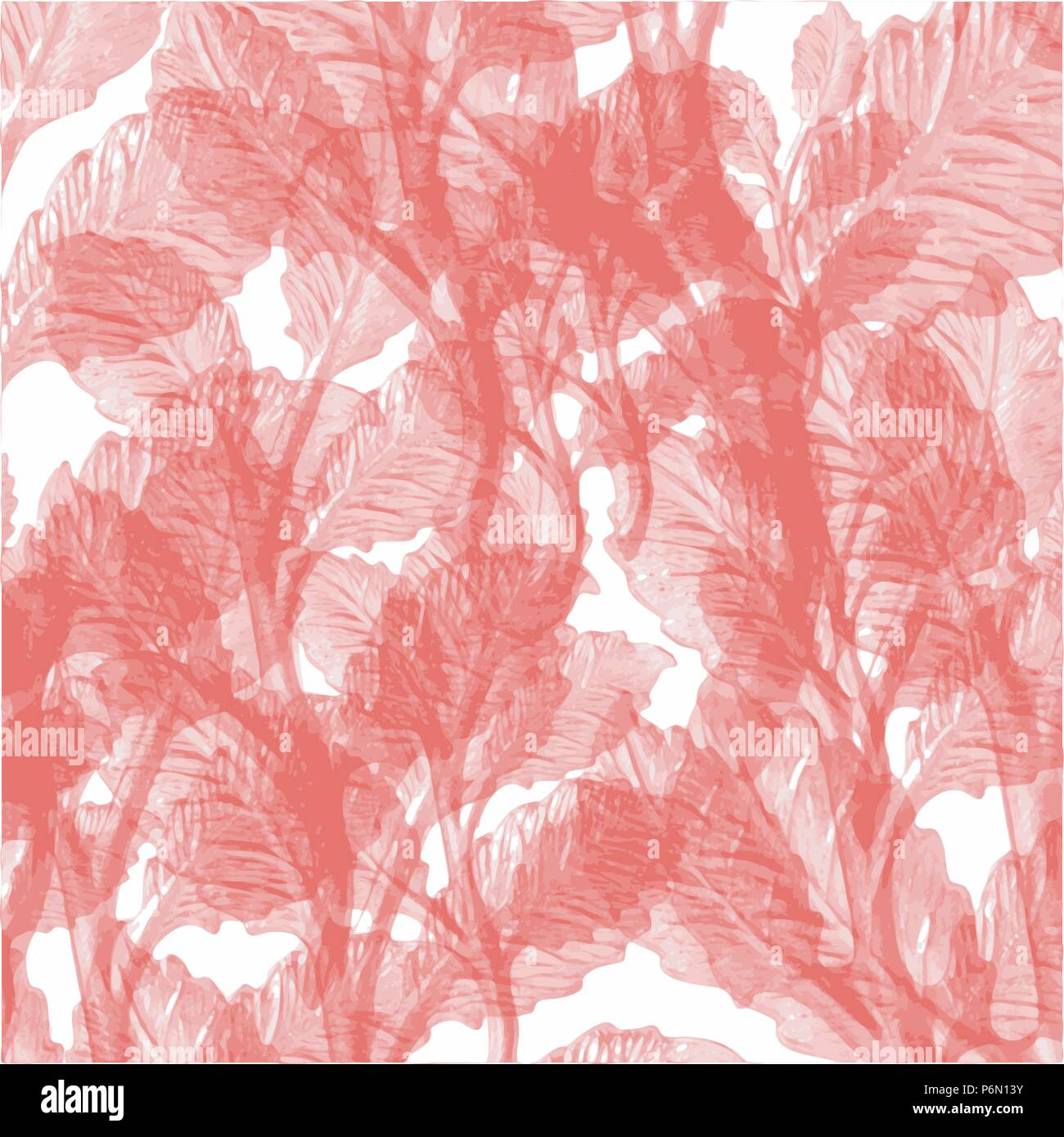 Red abstract watercolor wallpaper leaf background pattern vector illustration