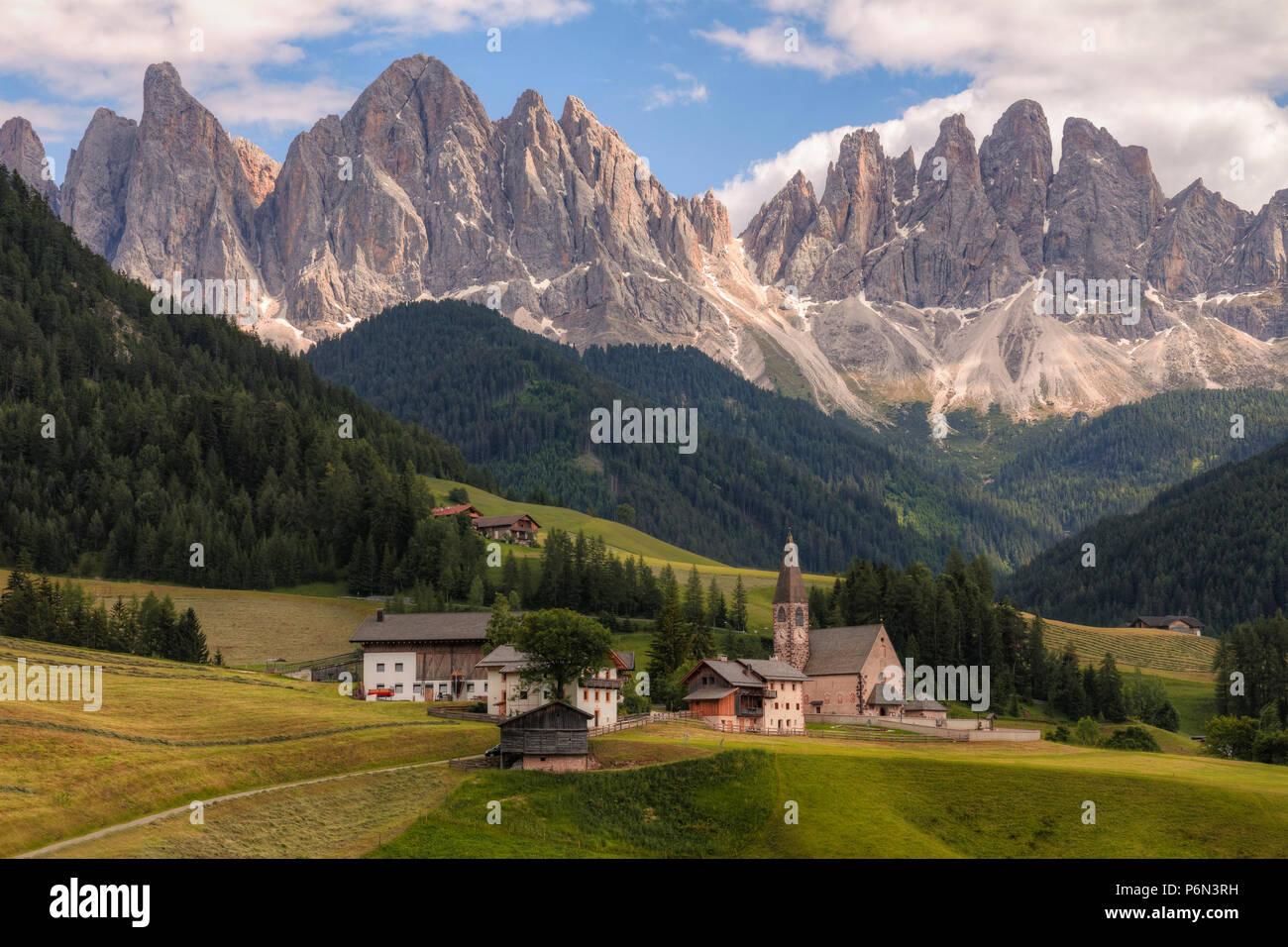 Santa Maddalena, Dolomites, Trentino, Alto Adige, Italy, Europe - Stock Image