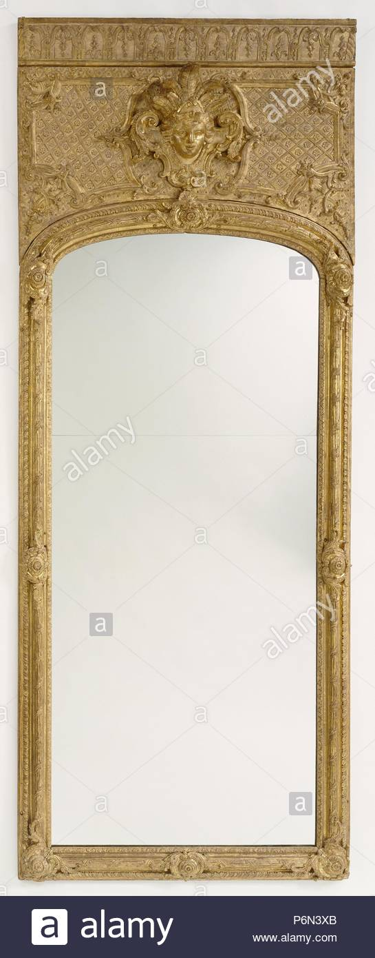 Antique frame with modern mirror glass; Unknown; Paris, France ...
