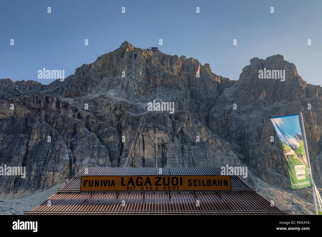 Lagazuoi, Passo di Falzarego, Cortina d'Ampezzo; Veneto, Belluno, Dolomites; Italy; - Stock Image