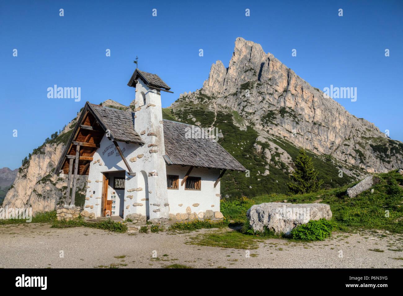 Passo di Falzarego, Cortina d'Ampezzo; Veneto, Belluno, Dolomites; Italy; - Stock Image