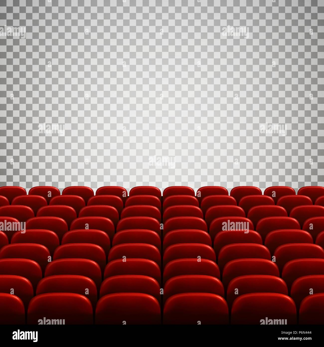 Wide Empty Movie Theater Auditorium With Red Seats Rows Of Red Theater Seats Vector Illustration Isolated On Transparent Background Stock Vector Image Art Alamy