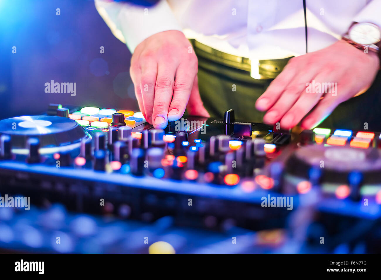 dj hands close up close up record stock photos dj hands close up